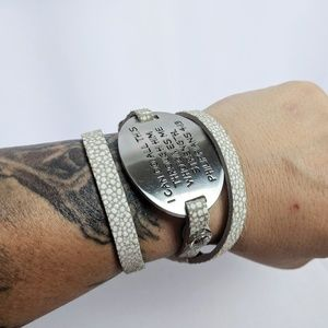 Good Works Jewelry - Good Works Philipians 4:13  Leather Wrap Bracelet